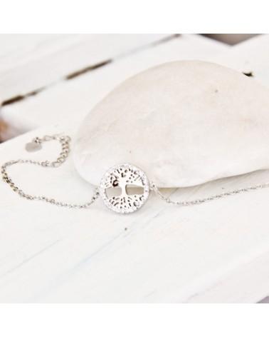 Pulseras arbol de la vida en plata