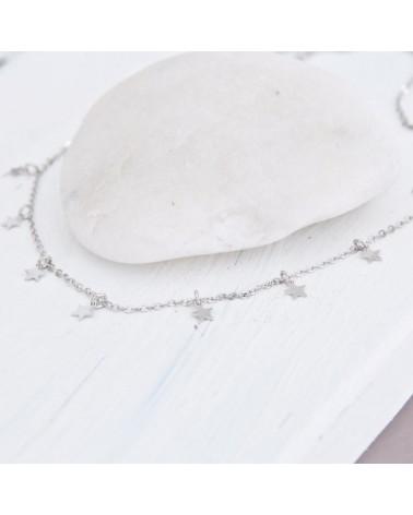 Collar de estrellitas de plata
