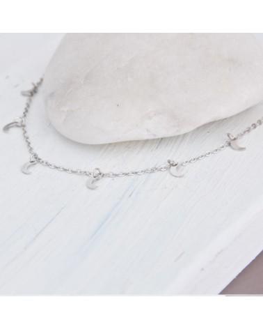 collar lunas de plata