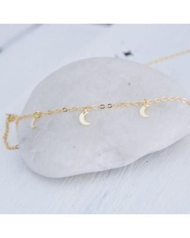 collar plata bañada oro amarillo