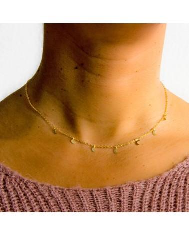 collar de plata bañada oro amarillo