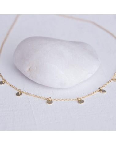 collar moon para mujer plata baño oro