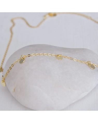 Collar plata bañado oro amarillo