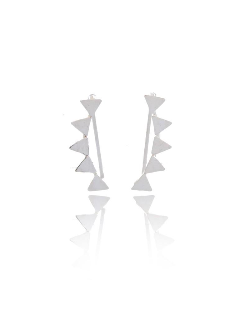 pendientes trepadores de plata